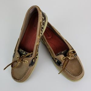 Sperry Topsider Angelfish Leopard Size 8.5M